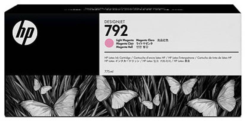 HP 792 775-ml Light Magenta Latex Designjet Ink Cartridge