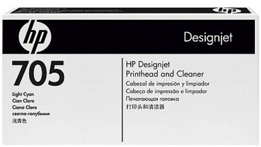 HP 705 Light Cyan Printhead and Cleaner