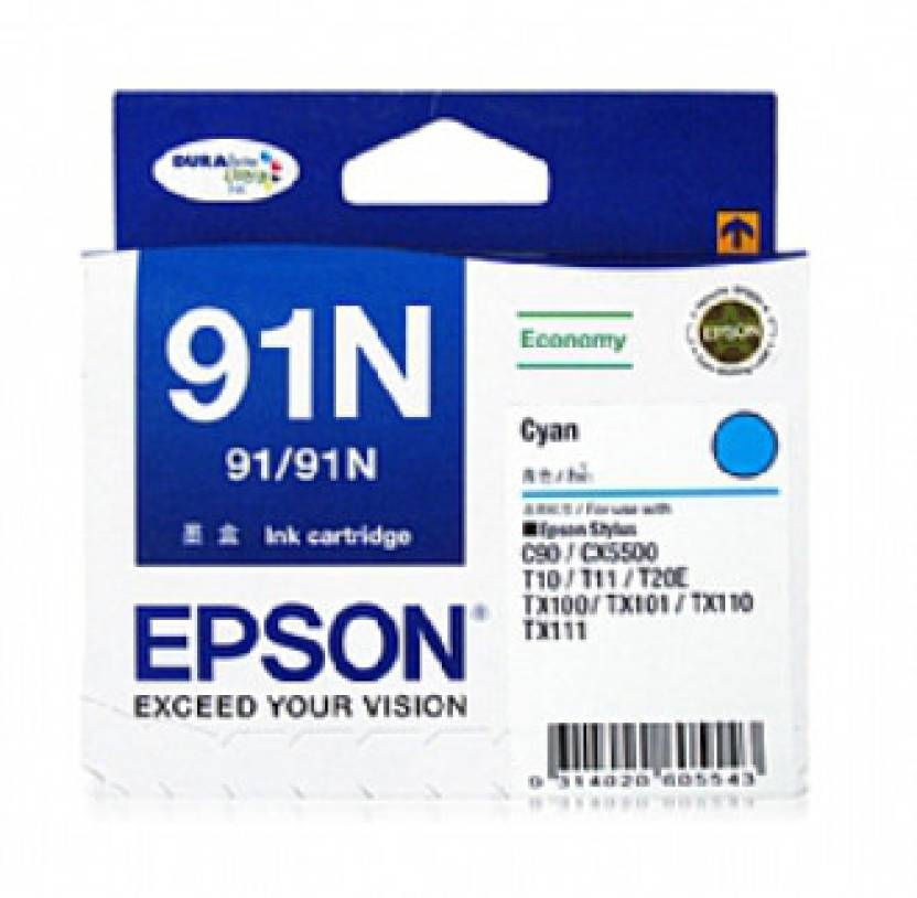Epson 91N Cyan Ink cartridge C13T107290
