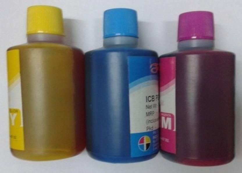 Formujet HP Ink Bottles Cyan, Magenta, Yellow & Black - 1 Liter Each Bottle Multi Color Ink