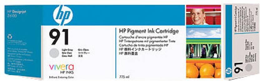 HP 91 775 ml Pigment Light Gray Ink Cartridge