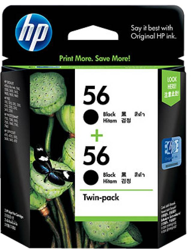 HP 56 2-pack Black Ink Cartridges