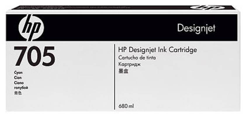 HP 705 Cyan Ink Cartridge