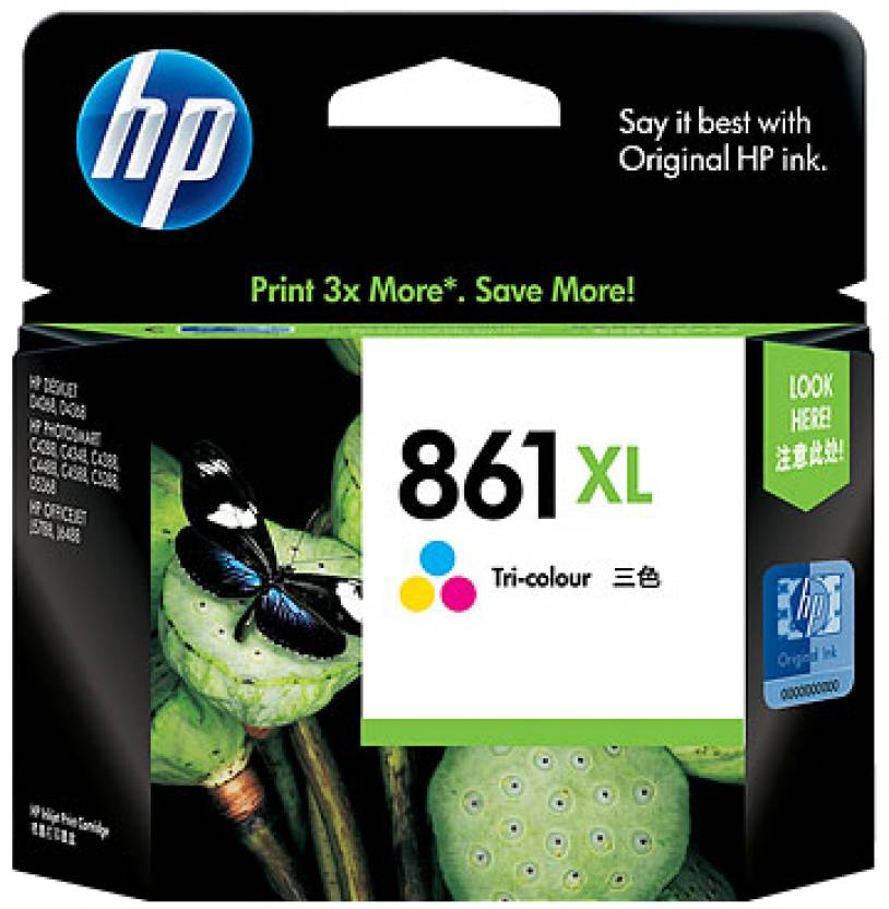 HP 861XL Tricolor Ink Cartridge