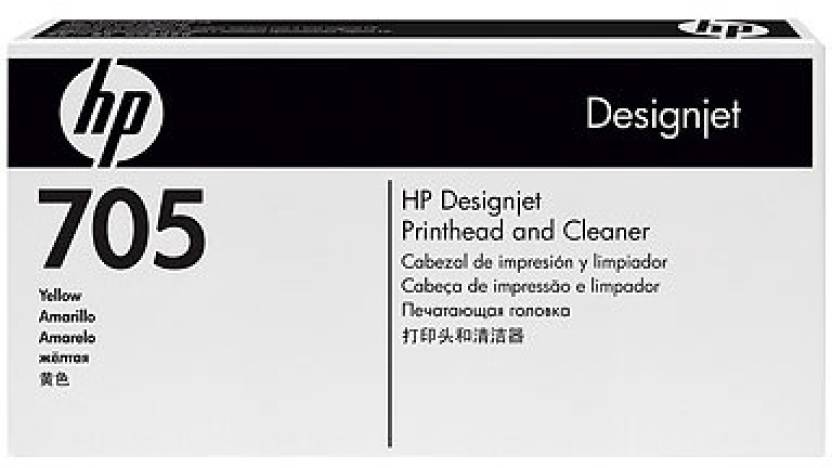 HP 705 Yellow Printhead and Cleaner