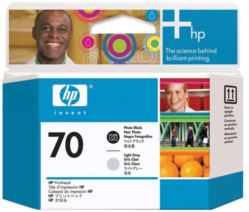HP 70 Photo Black and Light Gray Printhead