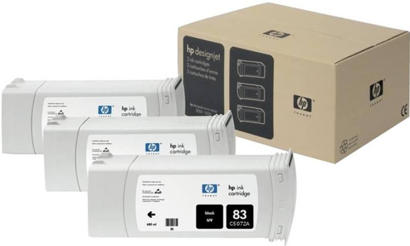 HP 83 3-pack 680-ml Black UV Cartridges