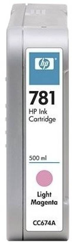 HP 781 500-ml Light Magenta Ink Cartridge