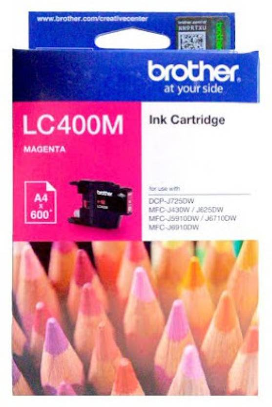 Brother LC400 Single Color Ink Cartridge (Magenta)