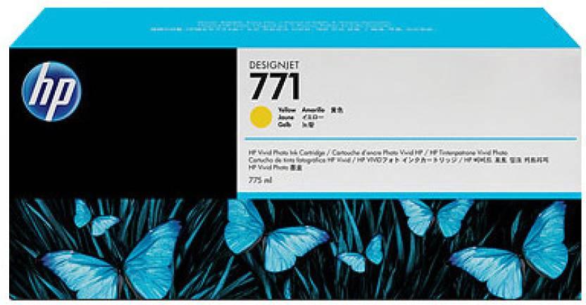 HP 771 3-pack Yellow Designjet Ink Cartridges