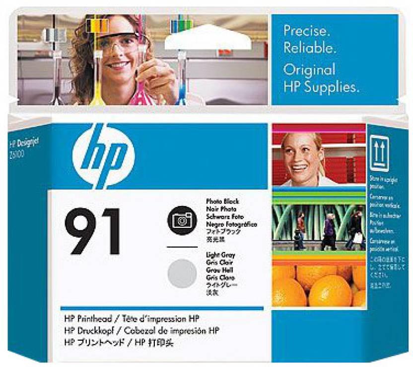 HP 91 Photo Black and Light Grey Printhead
