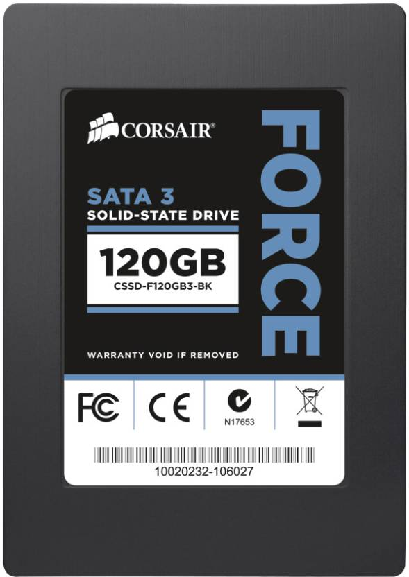 Corsair Force Series 3 120 GB Desktop, Laptop Internal Solid State Drive (CSSD-F120GB3A-BK)