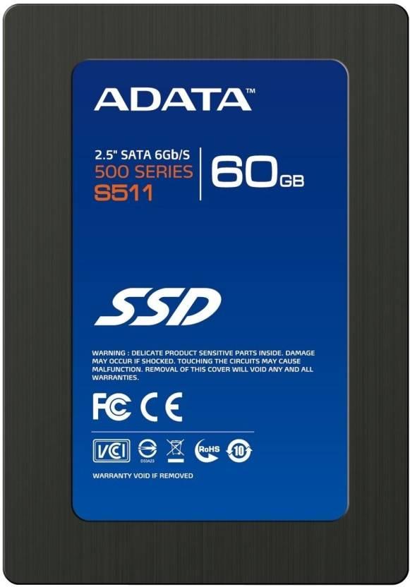 Adata 500 Series 60 GB Desktop, Laptop Internal Solid State Drive (S511)