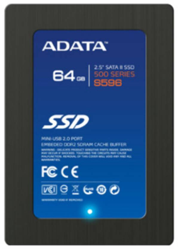 Adata 500 Series 64 GB Desktop, Laptop Internal Solid State Drive (AS596TB-64GM-C)