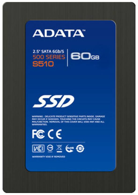 Adata 500 Series 60 GB Desktop, Laptop Internal Solid State Drive (S510)
