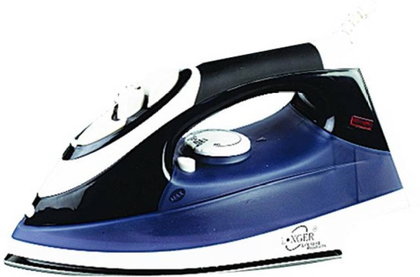 Longer Jewel Steam Iron (Black)