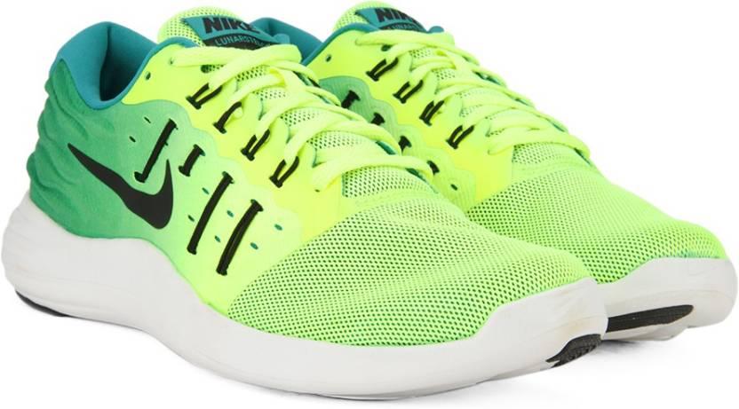 promo code 5fcac fc939 Nike LUNARSTELOS Running Shoes For Men (Black, White)