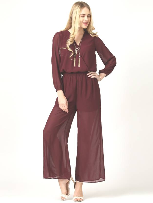 0bfb8b2da40c Marie Claire Solid Women s Jumpsuit - Buy Marie Claire Solid Women s  Jumpsuit Online at Best Prices in India