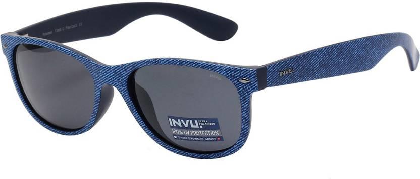 0a8f2e48e1d30 Buy Invu Wayfarer Sunglasses Grey For Men   Women Online   Best ...