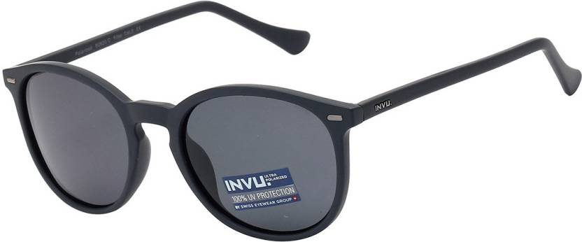ad03eed8b9b21 Buy Invu Round Sunglasses Grey For Women Online   Best Prices in ...