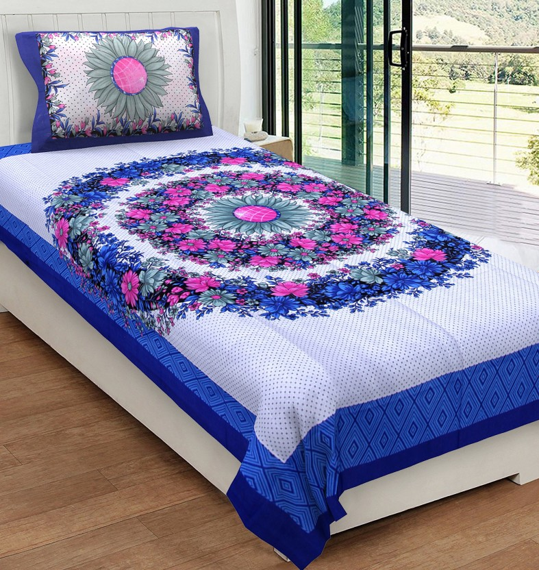 Metro Living 104 TC Cotton Single Printed Bedsheet