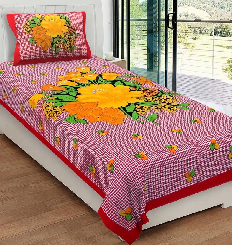 Metro Living 104 TC Cotton Single Floral Bedsheet