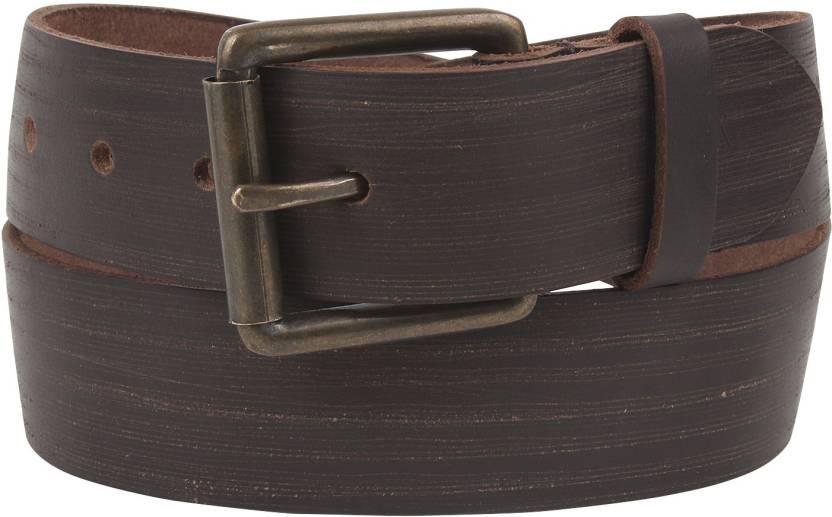 fcb9e11cd38 Aditi Wasan Men Casual Brown Genuine Leather Belt Brown14 - Price in India