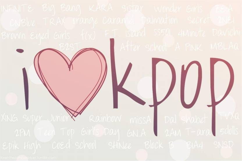 I Love KPOP Poster Paper Print - Music posters in India