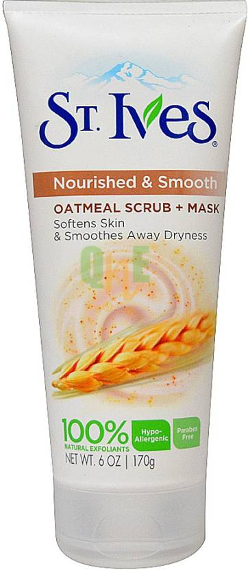 St. Ives Nourished & Smooth Face Scrub and Mask, Oatmeal Imported Scrub