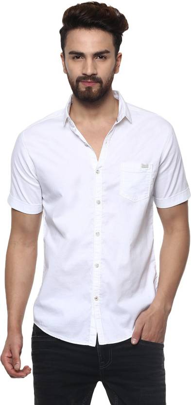 3bb9853871 Mufti Men's Solid Casual White Shirt - Buy 02-WHITE Mufti Men's Solid  Casual White Shirt Online at Best Prices in India | Flipkart.com