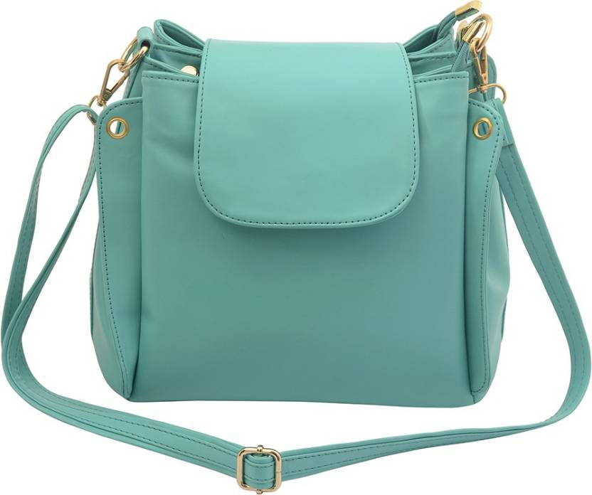 Deniza Women Casual Green Pu Sling Bag