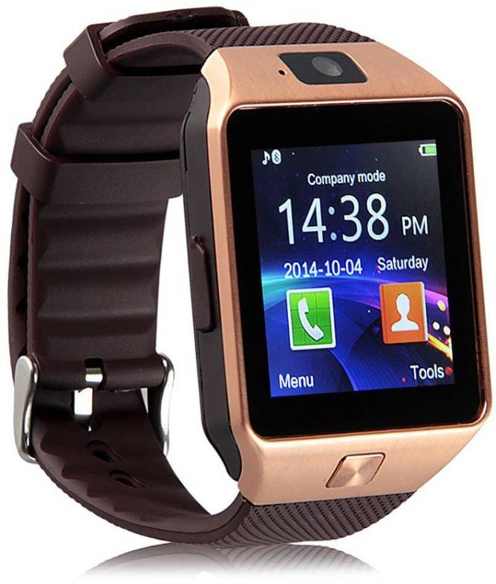 Wokit DZ09-67 Bluetooth with Built-in Sim card and memory card slot Compatible with All Android Mobiles Brown Smartwatch