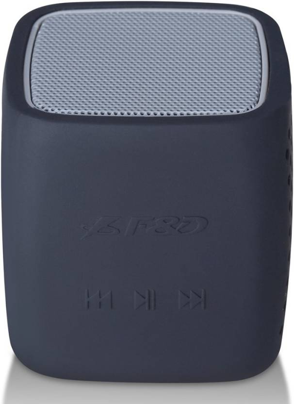 F D W4 3 W Portable Bluetooth Speaker Black, Mono Channel  F D Speakers