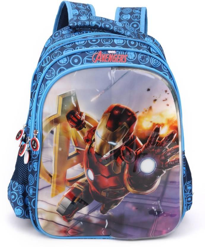 Marvel Avengers Flap School Bag 16 inches School Bag (Multicolour 5f72ba4871fa0