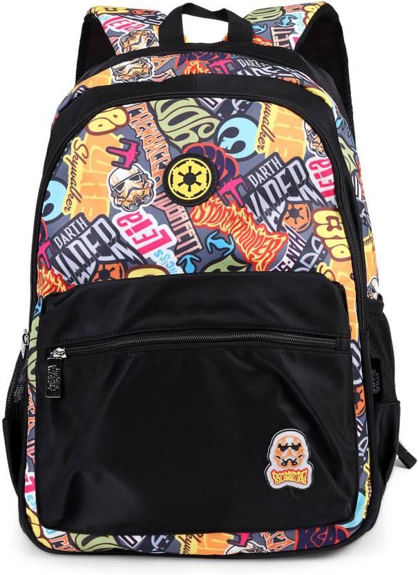 Disney Star Wars Stormtrooper Black School Bag 19 Inch Backpack