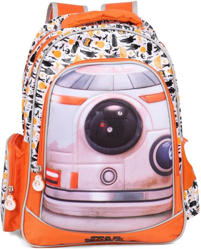 NWT Disney Store Star Wars Backpack School  W// Decals Book Bag NEW
