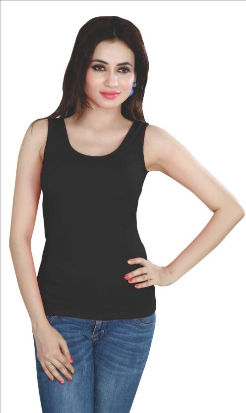 19aa92a77424e City Girl PLUS Women s Tank Top Vest - Buy City Girl PLUS Women s Tank Top  Vest Online at Best Prices in India