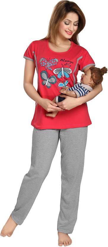 AV2 Women s Printed Red Top   Pyjama Set Price in India - Buy AV2 ... faabc723c