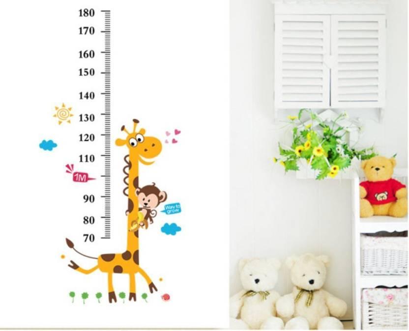 shrih medium 'kids giraffe height chart' wall sticker price in india