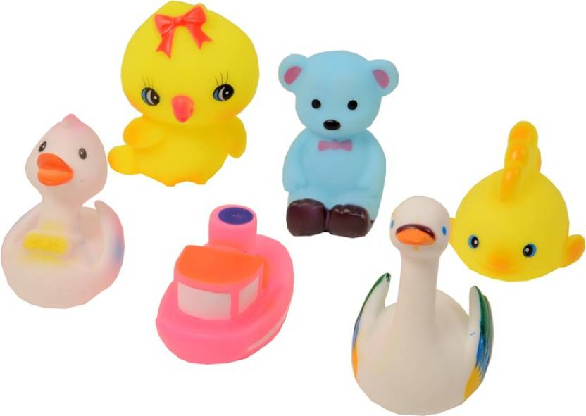 78ab6ddee Deep Assorted Fun Soft Squeeze Sound Small Toys Set Of6 Bath Toy  (Multicolor)