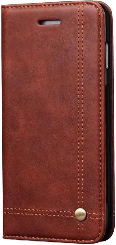 Cubix Flip Cover for Apple iPhone 7 Plus Brown