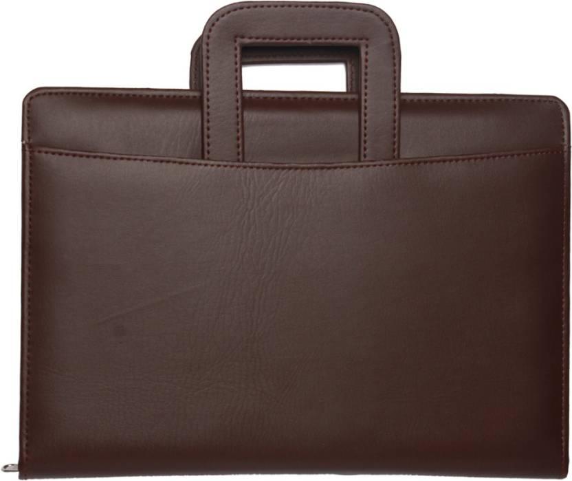 Nishtha Creations Faux Leather Office File Folder Hand Bag