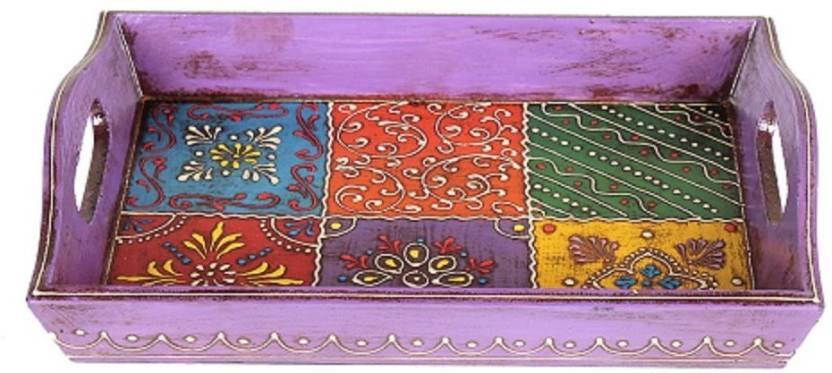 Apkamart Handicraft Wooden Serving Tray Decorative Tray For Table Custom Decorative Wood Serving Trays