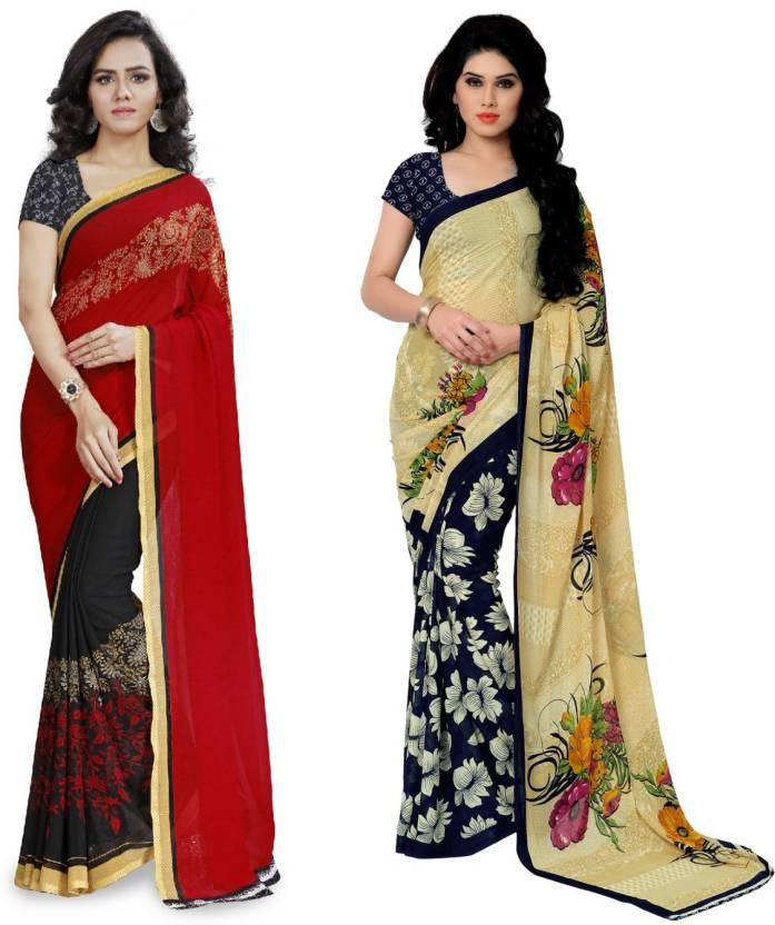 Kashvi Sarees Printed Fashion Georgette Saree