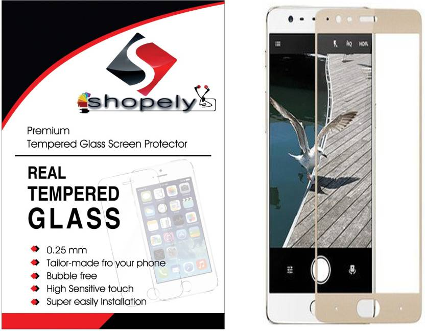 shopely Tempered Glass Guard for oppo f1s Tempered Glass Screen Protector for oppof1s -BLACK (