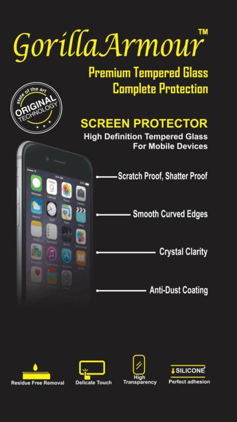 Gorilla Armour Tempered Glass Guard for Samsung Galaxy A9 PRO Pack of 1