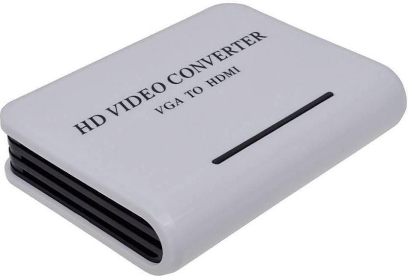 Smart Tech High Definition VGA to HDMI TV HD Video Signal Converter Media Streaming Device White