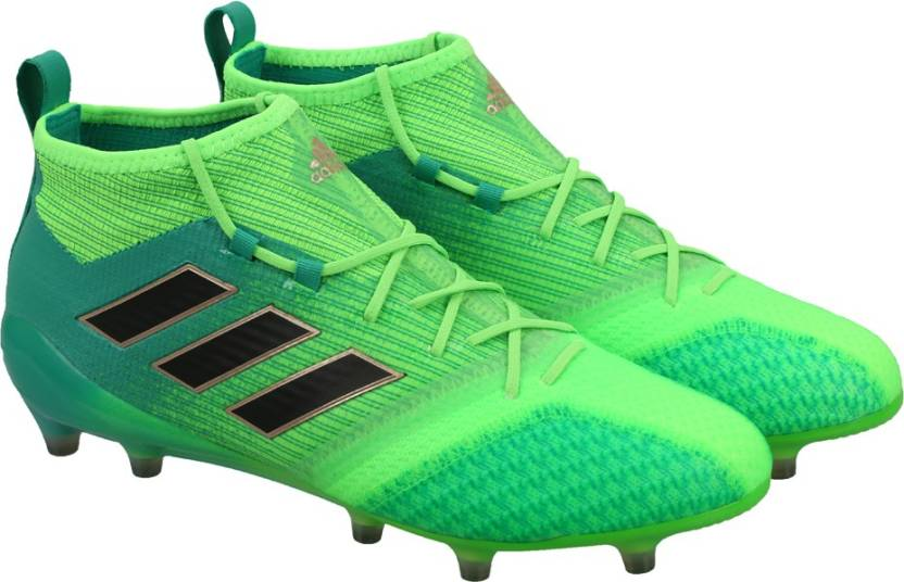 timeless design 950d9 a1b7f ADIDAS ACE 17.1 PRIMEKNIT FG Football Shoes For Men (Green, Black)