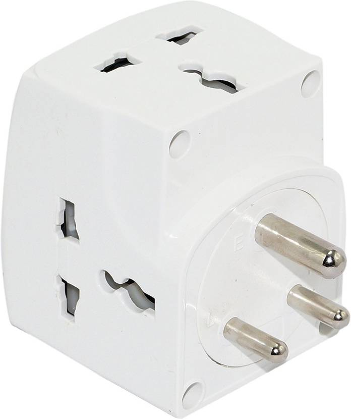 GW 3 way socket Universal input plug with individual switches and ...