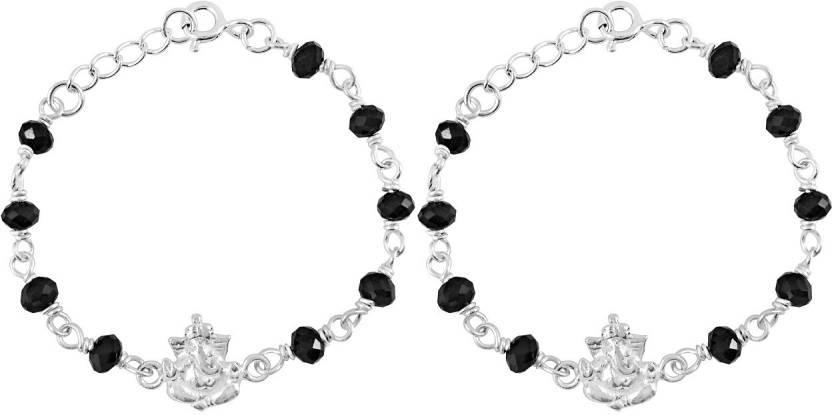 MJ 925 Sterling Silver Cubic Zirconia Silver Bracelet